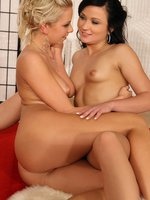 alica and nikol - enticing teens lap twats and butts