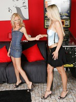 alison and celine - captivating blondes strip and rub