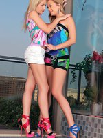 beatrice and sasha - gorgeous teens strip and lick twats
