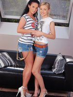 capry and sasha - stunning teens lap butts and finger