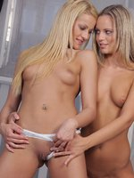 charry and vanda - blonde beauties - two blonde stunning lesbian babes