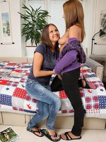 dulce and malin - adorable teens lick and dildo twats