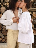kari and susan - farm girl have sex with soldieress