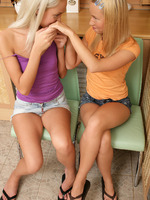 karin and elise - kitchen cunnilingus - two hot teens enjoying cunnilingus