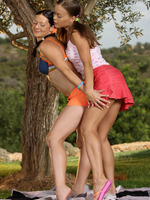 mya and mischelle - perfect picnic - two hot babes go down on each other
