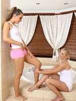 nessy and rene - playing games - wet girls like playing dirty games