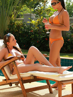 sascha and zara - bikini babes - two bikini babes enjoy cunnilingus