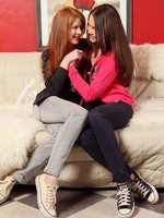 sisa and dulce - innocent teen undress and finger