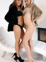 tarra and nessy - blonde sweeties - hot blonde getting it on with hotie