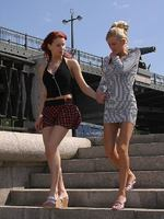watch two daring teenies in harbourside lesbian passion